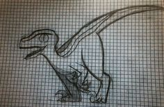 First shot at drawing a utahraptor, beacause they are beautiful and I want one [by Delilah]