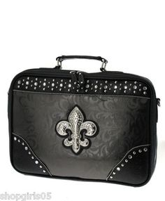 NEW! BEAUTIFUL FLEUR DE LIS LAPTOP .  SIZE:16w x 11.5h x 3 d in.       REALLY NICE!!     I HAVE A VARIETY OF ITEMS IN MY STORE, SO PLEASE CHECK THEM OUT.     THANKS FOR LOOKING!