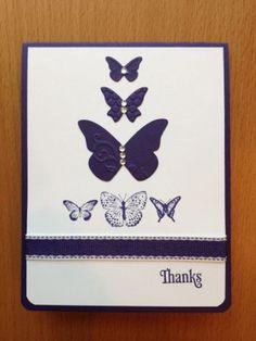 Thank You Card Elegant Butterflies