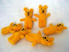 Small and cute knitted bear