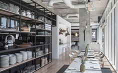 Boutique Café by Anarchitect, Abu Dhabi UAE restaurant cafe Design Bar Restaurant, Hotel Restaurant, Commercial Design, Commercial Interiors, Cafe Interior, Interior Design, Cafe Pictures, Restaurants, Bar Design