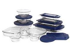 World Kitchen 1058994 Pyrex Bakeware 19-Piece Baking Dish Set, Clear by World Kitchen, http://www.amazon.com/dp/B0002T1G3Y/ref=cm_sw_r_pi_dp_O200qb1C5R6A6