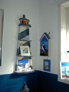 bathroom shelf lighthouse theme: