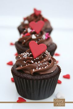 valentines cupcakes - Google Search