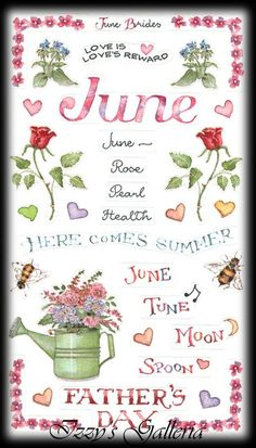 Susan Branch Vintage Retired June Father's Day Flowers Summer Stickers
