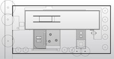 """Desenho da cobertura da Casa Planalto, projetada em """"L"""" pelo arquiteto Flavio Castro. Nessa área, está o jardim seco, definido também como solário (terraço reservado para os banhos de sol)"""