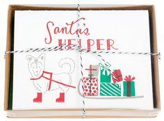 Santa's Helper Holiday Cards by Printerette