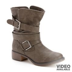 Candie's® Mid-Shaft Buckle Boots - Women