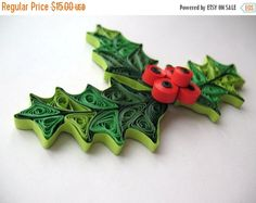 Quilled mistletoe christmas decoration, Holiday or - Paper Quilling Designs Disney
