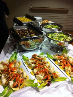Salads are a big part of our popular crab feeds as shown above ---  #arista #catering #Seattle #salad (888)98-CATER
