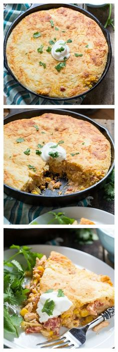 Mexican Chicken Cornbread Casserole - ready in only 30 minutes! Quick and easy recipe using rotisserie chicken taco seasoning cornbread mix Rotel tomatoes can corn sour cream and cheese. Cornbread Casserole, Cornbread Mix, Casserole Dishes, Casserole Recipes, Cheesy Cornbread, Mexican Cornbread, Cornbread Recipes, Chicken Casserole, Recipes Using Rotisserie Chicken
