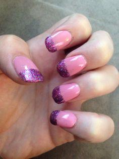 #pink #glitter #manicure #mani #easy #nailart
