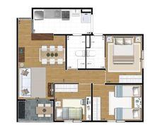 apartamentos de 3 quartos 60 m2 - Pesquisa Google