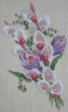 Уже середина января,а я всё никак не соберусь духом,чтобы собрать все работы прошедшего года в один пост...По примерным подсчётам их было около сорока.Как обычно,90% вышито на заказ и несколько вышивок в подарок. Для себя в прошлом году опять ничего не вышилось(( Из самого примечательного-... Cross Stitch Art, Cross Stitch Flowers, Cross Stitch Patterns, Flower Coloring Pages, Small Flowers, Embroidery Art, Blackwork, Needlepoint, Needlework