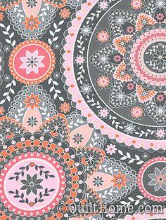 Silent Cinema JM40-Pink Fabric by Jenean Morrison
