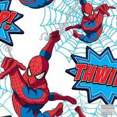 Spiderman springt von Wand zu Wand im Jungenzimmer