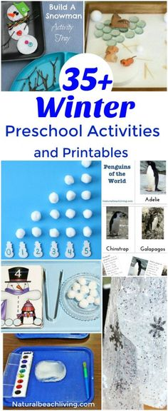 Preschool Science Activities, Snow Activities, Winter Activities For Kids, Preschool Lesson Plans, Winter Crafts For Kids, Montessori Activities, Preschool Winter, Children Activities, Holiday Activities