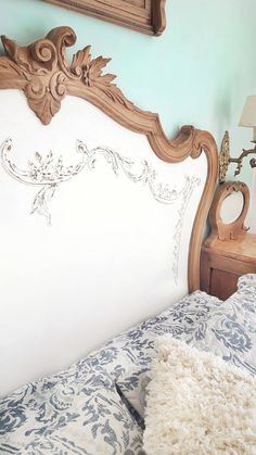 Milk Paint Furniture, Recycled Furniture, Painted Furniture, Painted Buffet, Antique Beds, Master Room, Dream Rooms, Handmade Decorations, Furniture Makeover