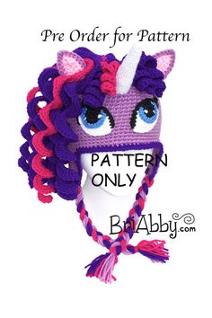 Crochet unicorn hat pattern...I might have to switch over to the crochet dark side (from knitting!) so I can make this!