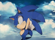 "I feel like this would be Sonic's reaction if you said to him, ""hey there sonic! Wanna hang?"""