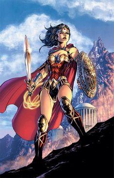 Drawing Dc Comics Wonder Woman by Jim Lee Wonder Woman Art, Wonder Woman Kunst, Wonder Woman Comic, Wonder Women, Arte Dc Comics, Power Girl, Comic Books Art, Comic Art, Justice League