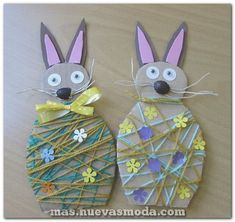 If you are planning to spend some great time with your kids this Easter then try out these easy unique Easter craft ideas. Have real fun and paint Easter eggs in a unique manner! Easter Arts And Crafts, Spring Crafts, Easter Activities, Craft Activities For Kids, Craft Ideas, Craft Projects For Adults, Crafts To Do, Lana, Art For Kids
