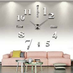 Large DIY home decoration big mirrorred wall clock modern design unique gift #MAX3 #Modern would be cool for the new livingroom...