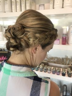 Created this updo for a client who was a bridesmaid in her sisters wedding. Work done by Amanda Reynolds. Blonde Braids, Sister Wedding, Updos, Amanda, Bridesmaids, Sisters, Hair Beauty, Dreadlocks, Hairstyles