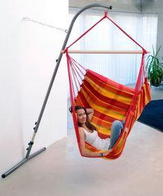 Disfruta de tu hamaca en casa, Hamaca silla Brasil Papaya, http://hamacamania.com/hamacas-silla/189-hamaca-silla-brasil-papaya-4030454000680.html