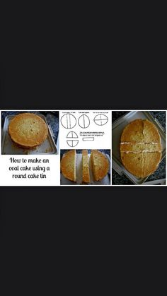 Make an oval cake from a round cake