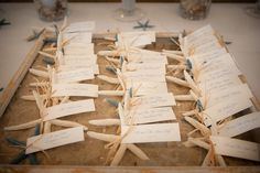 Starfish Escort Cards by The Finishing Touch / Photo: The Studio Photographers