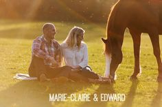 Marie-Claire and Edward's Horse Loving Pre Wedding Shoot. By Tom Redman