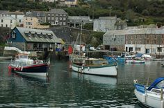 Mevagissey harbour, Cornwall, England.