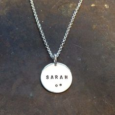 Sterling silver necklace Handmade name jewelry by BAKKA