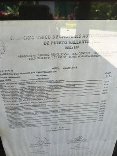 Hyatt Ziva Puerto Vallarta taxi rates (1 of 2 posts). Showing prices to the airport. Taken April 2016