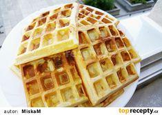 Křehké vafle recept - TopRecepty.cz Cheesecake, Snacks, Cooking, Breakfast, Sweet, Food, Hampers, Food Food, Kitchen