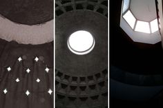 TRIPTYCH : the light from above #light #geometry #architecture #rome #pantheon #istanbul #greece #thevoyageur