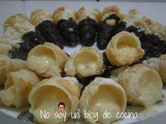 NO SOY UN BLOG DE COCINA→ Recetas paso a paso con imágenes: CARACOLAS CUBIERTAS DE CHOCOLATE Y RELLENAS DE CREMA
