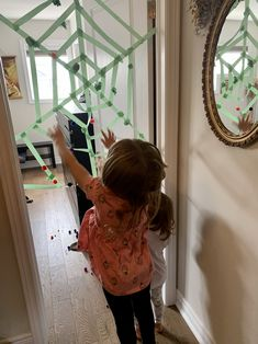 Make a web with painters tape and throw recycled balls of paper! Fun indoor activity for a rainy day Superhero Preschool, Fun Indoor Activities, Painters Tape, Balls, Spiderman, Recycling, Halloween, Paper, Spider Man