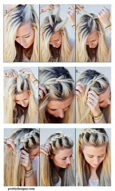 Easy No Heat Hairstyles For Medium Or Long Length Hair - Hair Styles For School No Heat Hairstyles, Diy Hairstyles, Hairstyle Tutorials, Braid Tutorials, Summer Hairstyles, Beauty Tutorials, Hairstyles Videos, Wedding Hairstyles, Updo Hairstyle