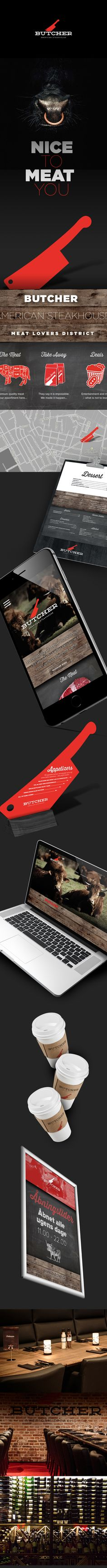 Butcher - American Steakhouse on Behance