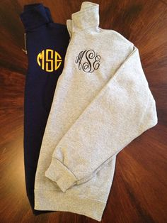Monogrammed sweatshirt    I love these! Maybe gifts for my bridesmaids!