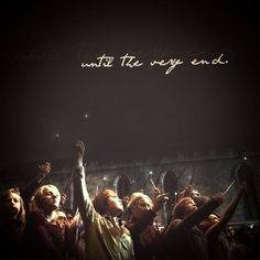 Until the very end.