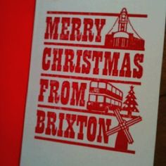 Merry Christmas from Brixton letterpress card from lepetittype.co.uk