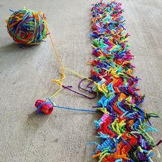 18 Best Ideas For Crochet Projects Scrap Yarn Scrap Yarn Crochet, Wire Crochet, Knitting Yarn, Crochet Hooks, Crochet Bracelet Pattern, Crochet Patterns, Yarn Projects, Crochet Projects, Easy Yarn Crafts