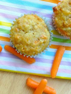 Carrot Apple Coconut Muffins | http://kidsinthesink.com/?p=952
