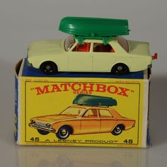 Lesney Matchbox Ford Corsair with Boat 1965