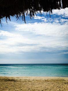 Under the Tiki Hut - Margaritaville in Negril, Jamaica on Seven Mile Beach.  DKM