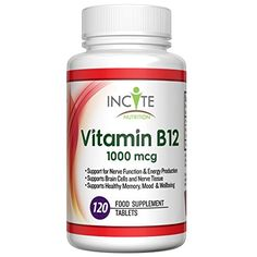 Vitamin B12 Methylcobalamin High Strength 1000 MCG Supplement 120 Tablets (4 Month Supply) – Small 6mm Pills not Capsules or Nuggets – Suitable for Vegan and Vegetarian Natural Benefits – Best Supplements for B12 Deficiency Source of Vit B 12 Vitamins Manufactured in the UK - http://vitamins-minerals-supplements.co.uk/product/vitamin-b12-methylcobalamin-high-strength-1000-mcg-supplement-120-tablets-4-month-supply-small-6mm-pills-not-capsules-or-nuggets-suita