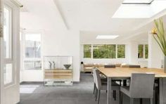 Abbinamenti pavimento grigio - Mobili chiari e pavimenti grigio